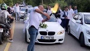 İstanbul'da silahlı, çakarlı ve kuralsız düğün konvoyu terörü