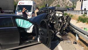 Amasyada feci kaza Aynı aileden 4 yaralı