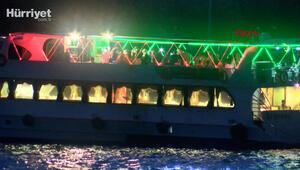 Koronavirüse rağmen teknede eğlence yaptılar
