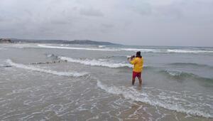 Şiddetli rüzgar nedeniyle Şilede denize girmek yasaklandı