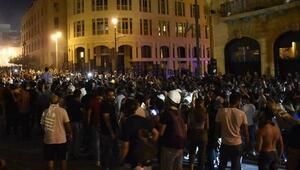 Beyrutta gösteriler devam ediyor Çok sayıda yaralı var