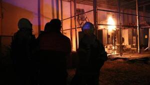 Trafoda çıkan yangın korkuttu; 7 mahallede elektrik kesildi