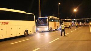 5 kişinin öldüğü yolda otobüslere denetim