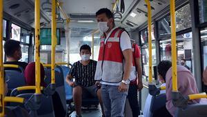 Avcılarda toplu taşımaya maske denetimi
