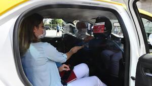 Ankarada taksilerde şeffaf panel uygulaması