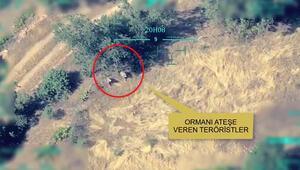 Irakın kuzeyinde orman yakan PKKlı teröristler etkisiz hale getirildi