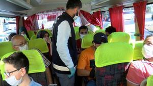15 Temmuz Demokrasi Otogarında otobüslerde denetim