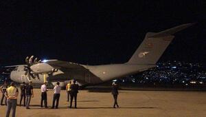 Son dakika... Türkiyeden Lübnana yardım götüren uçak iniş yaptı
