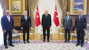 Azeri bakanlar Beştepe'de