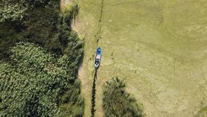 Beyşehir Gölü yeşil dokusuyla görenleri adeta büyülüyor
