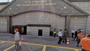 Ankarada AK Partinin 19uncu yılını kutlayacağı merkezde hazırlıklar tamam