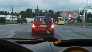 Sultangazide trafikte ilginç anlar