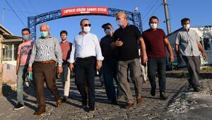 AK Partili Turan, Lapsekide sanayi esnafıyla bir araya geldi