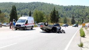 Freni patlayan otomobil takla attı: 5 yaralı