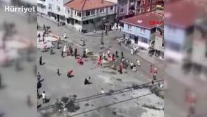 Esenlerde mahalleyi savaş alanına çeviren kavga kamerada