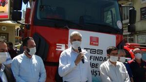 TBBden Simav Belediyesine 2 itfaiye aracı hibe edildi