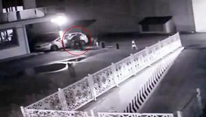 Sitedeki silahlı saldırı güvenlik kamerasında