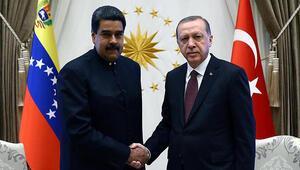 Cumhurbaşkanı Erdoğandan Maduro ile kritik görüşme