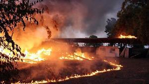 Mersinde Araştırma Enstitüsünde korkutan yangın