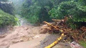 Ofta şiddetli yağış heyelanlara neden oldu