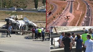 Son dakika haberi: Çekmeköyde feci kaza Şile istikameti trafiğe kapandı
