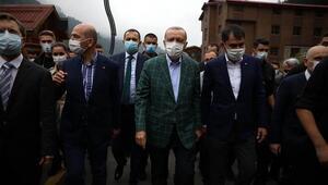 Cumhurbaşkanı Erdoğan, Ayder Yaylasında incelemelerde bulundu