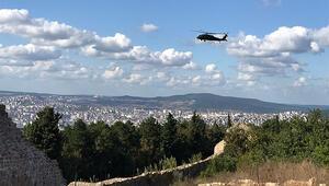 İstanbul Emniyet Müdürü Zafer Aktaş, Aydos Ormanını havadan denetledi