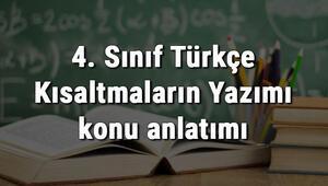 4. Sınıf Türkçe Kısaltmaların Yazımı konu anlatımı