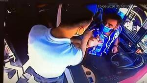Annesinin kartıyla bindi, fark eden şoföre saldırdı