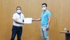 Muhtarlara, koronavirüsle mücadelede başarı belgesi