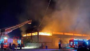 Son dakika haberi: Manisada korkutan fabrika yangını
