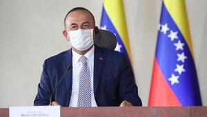 Bakan Çavuşoğlu, Venezuelalı mevkidaşı ile Arreaza görüştü: İş birliği vurgusu