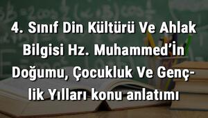 4. Sınıf Din Kültürü Ve Ahlak Bilgisi Hz. Muhammed'İn Doğumu, Çocukluk Ve Gençlik Yılları konu anlatımı