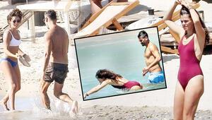 Özge Özpirinçci ile Burak Yamantürkün plaj tenisi