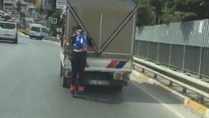 Patenli gencin tehlikeli yolcuğu kamerada