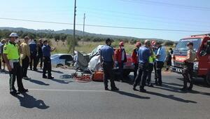 Balıkesirde feci kaza: Baba öldü, kızı ağır yaralı...