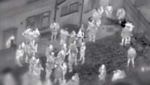 İngilterede koronavirüs partisi termal kamerayla görüntülendi