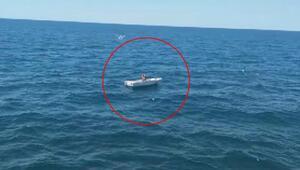 Marmara'da mahsur kalan kişinin tekneyi çaldığı ortaya çıktı