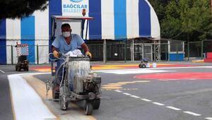 Bağcılar'da eğitim- öğretim dönemi öncesi okullar boyanıyor