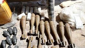 Pençe-Kaplan Operasyonunda bulunan silah ve mühimmatlar imha edildi