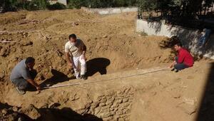 Aydında inşaat alanında 1600 yıllık sur duvarı bulundu