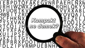 Kompakt ne demek Kompakt nedir Kompakt TDK kelime anlamı