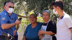 Antalyada evlerinde çıkan yangına müdahaleyi gözyaşları içinde izlediler