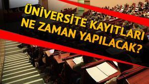 Üniversite kayıtları 2020 ne zaman başlayacak Üniversite kayıt tarihi belli oldu