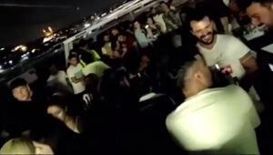 İstanbul Boğazındaki yat partilerinde yine aynı manzara