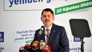 Bakan Kurum: Türkiyenin en büyük kentsel dönüşüm projelerinden birini Bursada başlatacağız
