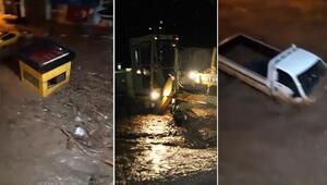 Son dakika haber... Giresunda sel felaketi Dereler taştı, arabalar caddelerde sürüklendi