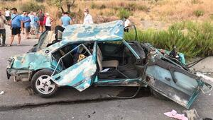 Muğlada korkunç kaza 2 ölü, 1 yaralı