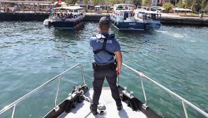Deniz polisinden Adalar çevresinde deniz taksi denetimi