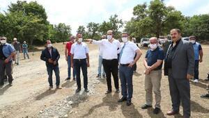 Vali Balcı, Eze Köyü Sulama Göleti inşaatını yerinde inceledi